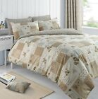 Natural Patchwork Duvet Set Floral Quilt Cover Bedding Single Double King