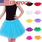 US High Quality Womens Ladies Girls Tutu Skirt Fancy Skirts Dress Party 3 Layers