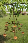 Wrought Iron 2 Tier Candace Chandelier Candelabra Lighting