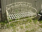 Wrought Iron Venetian Bench Metal Several colors Patio and Deck Furniture