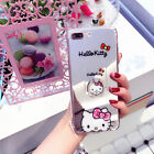 Mirror Ring Satnd Disney Soft TPU Case Cover For iPhone 8 X 7 6S Plus&S8 S8+ S9