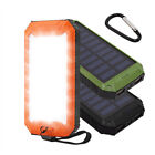 External 50000mAh Power Bank Solar 2USB LED Backup Battery Charger For iPhone7
