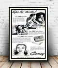 Camay Soap : Vintage Newspaper advertising , Wall art , poster, Reproduction.