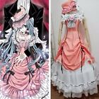 Kuroshitsuji Black Butler Ciel Phantomhive Cosplay Costume Set Pink Lolita Dress