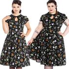 Hell Bunny Salem Halloween 50s 40s Dress Pin Up Rockabilly Swing Retro Vintage