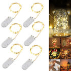 6 Pack 20 LED String Copper Wire Fairy Lights Battery Powered Lamp Waterproof