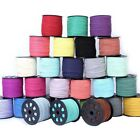 10yd Wholesale 3mm Faux Suede Leather String Flat Jewelry Making DIY Thread Cord