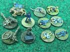 Painted 15mm American Civil War Union & Confederate 11 Stands  Game Play Markers