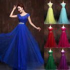 Plus Size Long Lace Beaded Formal Bridesmaid Dress Evening Ball Gown Party Prom