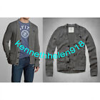 ABERCROMBIE & FITCH MENS MACINTYRE BRIDGE SWEATER GREY SIZE LARGE A&F