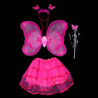 HOT NEW Girls Fairy Princess Angel Dress Up Set Fancy Dress Costume Outfit Wings