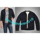 ABERCROMBIE & FITCH MENS WOLF POND SHERPA-LINED SWEATERS NAVY SIZE LARGE A&F