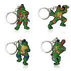 4pcs TMNT Cartoon Figure Key Chain PVC Key Ring Key Holder Pendant Kids Toy Gift
