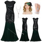 1920's 1930s Flapper Dress Long Prom Gatsby Vintage Fringe Party Evening Costume