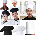 Black Hat For Men Cooking Kitchen Elastic Baker Cap Chef Adjustable Adult