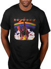 Official Rainbow Silver Mountain Tour T-Shirt Rising Down to Earth Rock N Roll