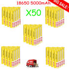 Lot 1~1000pc High Drain Rechargeable Battery 18650 3.7v Li-ion 2500mAh For Torch