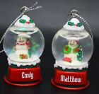 Ganz Personalize Snowglobe Ornament Names Starting with K L M  N P