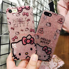 Hot Cute Bling Giltter Hello Kitty Soft TPU Case Cover for iPhone 8 X 6S 7 Plus