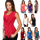 Womens Fashion Sleeveless T-shirts Ladies Casual Tops Blouse Solid Colour GIFT