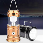 USA Portable Solar Camping Lantern Rechargeable Emergency Flashlight  LED Lamp