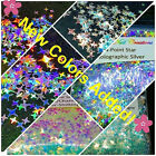 4-POINT STAR Shape Glitter You Choose Nail Art  Face  Festival  USA