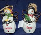 Ganz Country Angels Personalized Ornament Snow Man Ornament Names N - Z