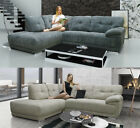 Maxim Fabric Grey Corner Sofa Right Left Hand Sofa Fernando Alexander Sofas