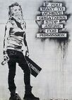 Extra Large Poster Print Picture Banksy Achieve Greatness Quote  P42