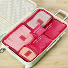 6Pcs Travel Storage Bag Waterproof Clothes Packing Cube Luggage Organizer Set US