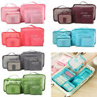 Travel - 6Pcs Travel Storage Bag Waterproof Clothes Packing Cube Luggage Organizer Set US
