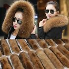 50/80cm Women's Fur Collar For Coat Jacket Hooded Scarf Shawl Wrap Winter Gifts