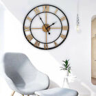 Large Traditional Vintage Style Metal Wall Clock Roman Numerals Home Decor 45cm