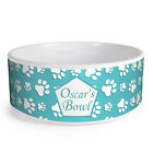 Personalised Paws Pattern Custom Design Dog Bowl Cat Pet Food Dinner Dish