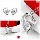 Gorgeous Sterling Silver Heart Jewellery Set Gift Boxed