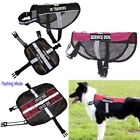 Reflective Nylon Service Dog Harness Vest Removable Patches For Training Walking