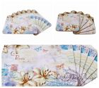 Set of 6 Placemat and Coaster set Shabby Chic Carte Postale Decor NEW Gift