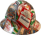 "Wild Side ""Beer"" Label Hydro Dipped Hard Hat FB or Cap Style Ratchet Suspensions"