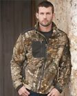 Microfleece Full-Zip Jacket with Polyester Panels Camouflage Hunting