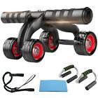 4 Wheel Abdominal Ab Muscle gym home exercise Fitness Roller Training l.