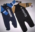 Los Angeles Chargers or New Orleans Saints Onsies 6 &  mo  Babies NWT Off Lic