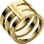NWT!! MICHAEL KORS Tri-Stack Gold-Tone Ring - Sizes 7 and 8