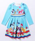 Lovely Girls My Little Pony Long Sleeve Party Holiday Birthday Dresses O56