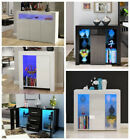 Modern Led Cabinet Cupboard Sideboard Matt Body And High Gloss Doors Led Light