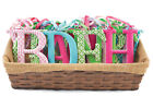 Внешний вид - Mud Pie E7 Summer Fun Girl Nursery Decor 5.5in Small Tin Letter Initial 2002115
