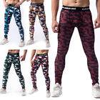 Men's Workout Thermal Compression Pants Under Base Layer Tight Fit Camo Printed