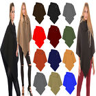New Ladies Loose Celeb 3 Button Neck Elegant Cardigan PONCHO TOP Cape Shawl Wrap