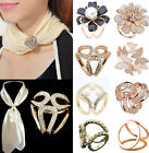 Women Scarf Ring Clip Buckle Scarf Clip Flower Buckle Holder Lady Scarf Jewelrys