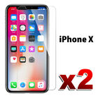 2X PremiumTempered Glass Screen Protector Film for Apple iPhone X 5 6s 7 8 Plus