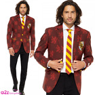 HARRY POTTER GRYFFINDOR MENS ADULT SUIT & TIE COSPLAY BY OPPOSUITS FANCY DRESS
